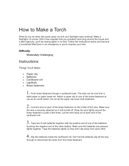 Learn how to make a torch