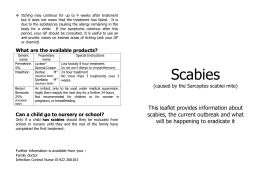 Scabies outbreak in care home leaflet CMBC Oct 13