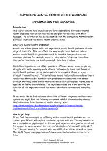 Mental health leaflet for staff - Gloucestershire Hospitals NHS Trust