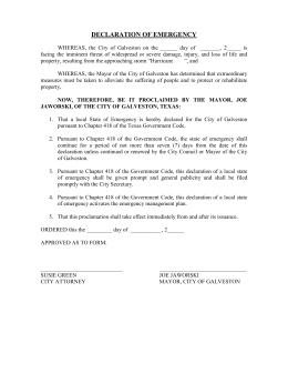 Interlocal cooperation agreement texas city attorneys association declaration of hurricane emergency platinumwayz