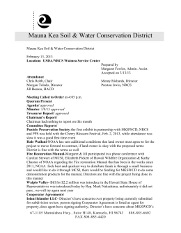 Mauna Kea Soil & Water Conservation District