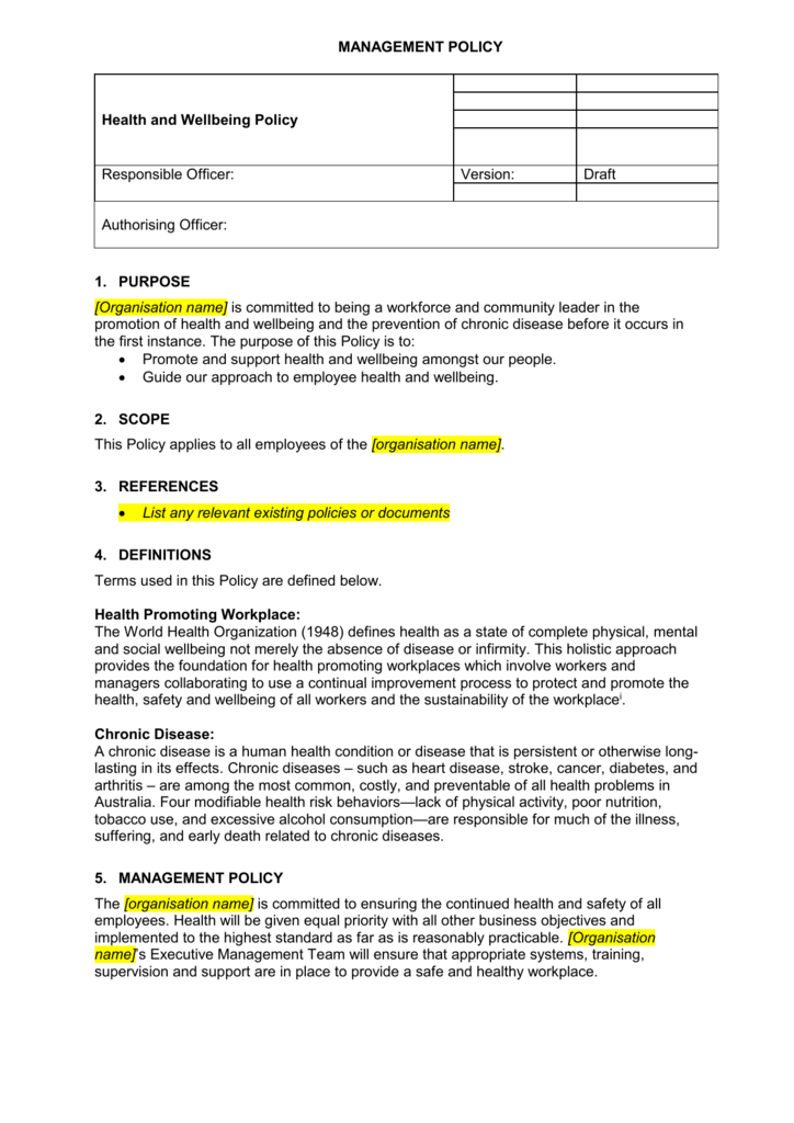 Procedure or Work Instruction Template