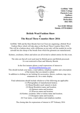 British Wool Fashion Show