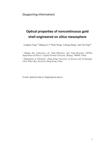 [Supporting Information] Optical properties of noncontinuous gold