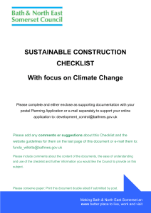 Sustainable Construction Checklist (MS Word 88kb)