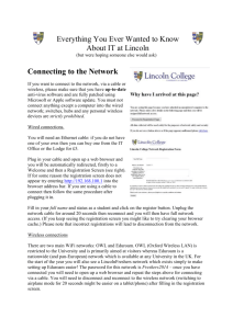 Connecting to the Network - Lincoln College