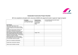 Sustainable Construction Project Checklist