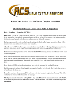 Ruble Cattle Services 1525 140th Street, Corydon, Iowa 50060