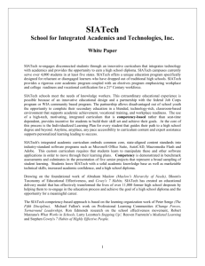 SIATech White Paper (Sept 2011)
