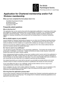 Chartered membership and/or full division application form
