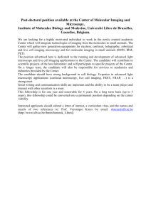 Post-doctoral position available at the Center of Molecular