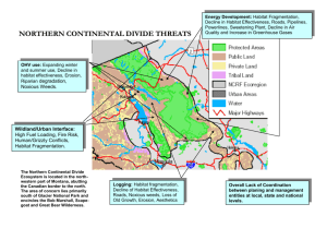 NORTHERN CONTINENTAL DIVIDE THREATS