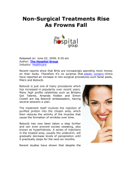 Non-Surgical Treatments Rise As Frowns Fall