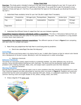Quiz & Worksheet - Levels of Ecology and Ecosystems ...