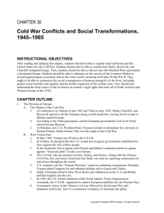 Cold War Conflicts and Social Transformations