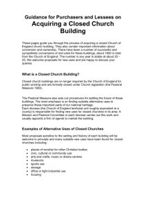 Guidance from the Church of England for purchasers and lessees