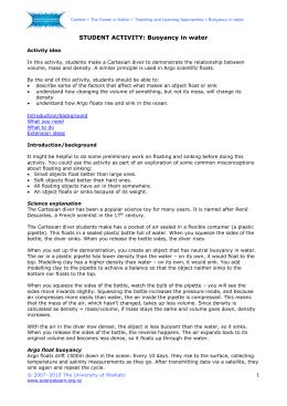 Cartesian Diver Worksheet Answer Key