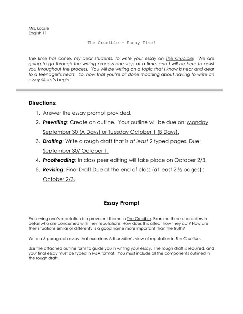 Example Essay Prompt