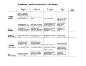 Stock Market PowerPoint Presentation - Grading Rubric