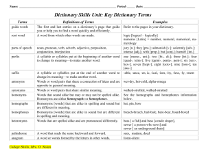 Dictionary Skills-Teacher`s Notes
