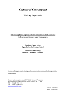 Re-conceptualising the Service Encounter: Services and Information