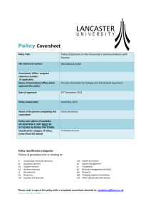 Policy on Communications with Parents - Secretariat
