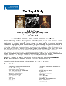 The Royal Body - Call for Papers (Word)