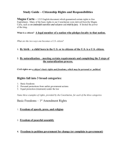 Study Guide Citizen Rights and Resp