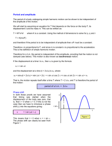 Period amplitude and phase shift