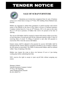 SALE OF SCRAP FURNITURE - National Insurance Company Limited