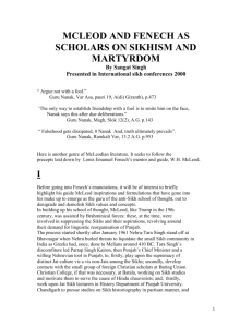mcleod and fenech as scholars on sikhism and martyrdom