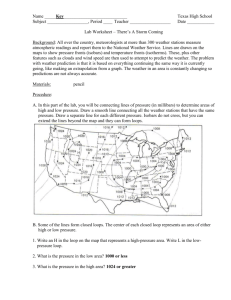 Reading A Weather Map Worksheet 29. Weather Map Worksheet #2
