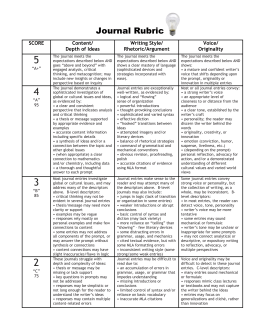 Journal Rubric - The Webster Web