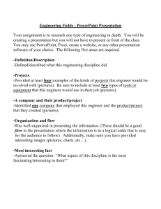 Engineering Disciplines (Fields) – PowerPoint Presentation Rubric