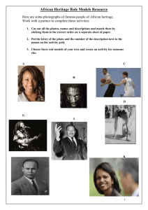 African Heritage Role Models Resource