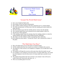 Around The World Multiplication Game