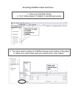 Tutorial: Searching PubMed from within your End Note X2 library
