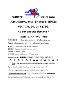 ORC Winter Series Flyer