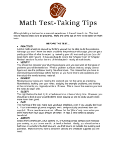 Math Test-Taking Tips