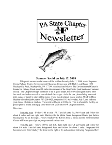 Summer 2008 - Pennsylvania Chapter of the American Fisheries