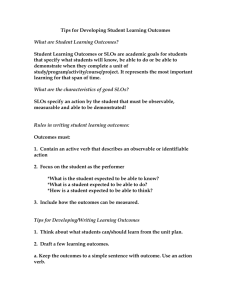 Tips For Developing Student Learning Outcomes