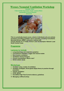 Irish Neonatal Ventilation Workshop for Registrars - Wessex