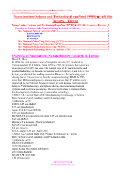 Nanostructure Science and Technology(IwgnNstc199909)  (A5) Site