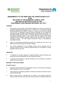 CERA s27 Amendments to the Canterbury Natural Resources