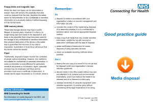 Bite-sized Good Practice Guide: Media Disposal
