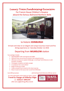 Luxury Train Fundraising Excursion to historic