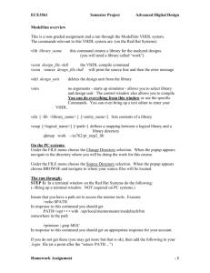 ModelSim User's Manual Software Version 10 1c