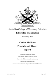 Canine Medicine - Australian College of Veterinary Scientists