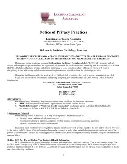 Privacy Form - Louisiana Cardiology Associates