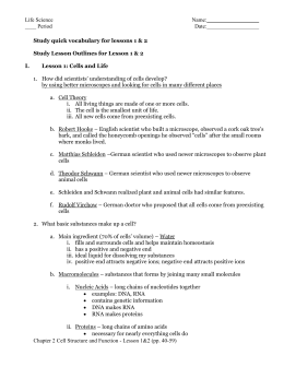 Answer Key Reading essentials c.2 Cell Structure and Function